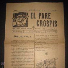 Documentos antiguos: VILANOVA I GELTRU - 1907 - EL PARE CROSPIS - NUM 32 - PERIODICH - VER FOTOS - (V-3773). Lote 53255791