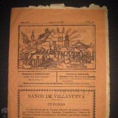 Documentos antiguos: VILANOVA I GELTRU - 1905 - LA DEFENSA - NUM 10- PERIODICH - VER FOTOS - (V-3774). Lote 53255806