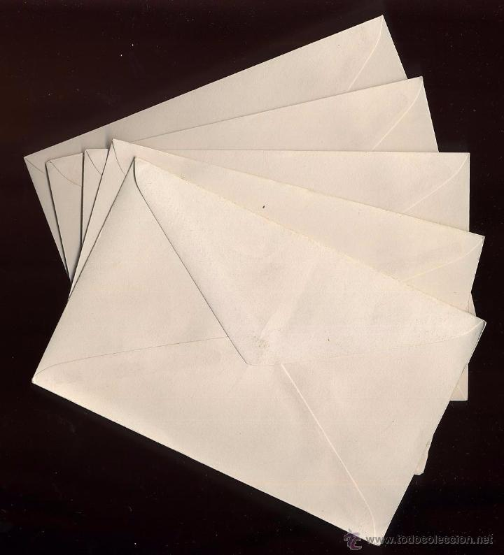 LOTE 5 SOBRES PEQUEÑOS NUEVOS 14 X 9 CM (Coleccionismo - Documentos - Otros documentos)