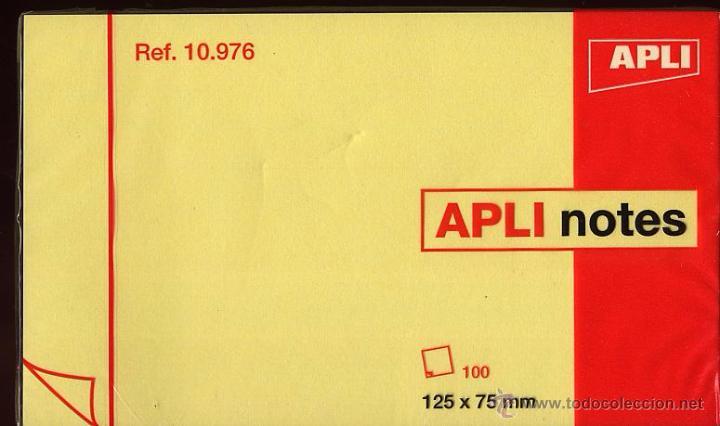 Documentos antiguos: APLI NOTES - 100 HOJAS PARA NOTAS - NUEVO CON ENVOLTORIO - 125 X 75 MM - Foto 2 - 53270452