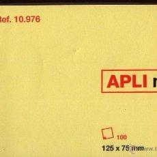 Documentos antiguos: APLI NOTES - 100 HOJAS PARA NOTAS - NUEVO CON ENVOLTORIO - 125 X 75 MM 1. Lote 53270458