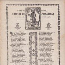 Documentos antiguos: GOZOS ++ GOIGS NOSTRA SENYORA DE JUNCADELLA ++ S. XIX. Lote 53285649