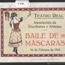 Documentos antiguos: ENTRADA - INVITACION - TEATRO - CIRCULO BELLAS ARTES MADRID - MIDE 12,5 X 10CM -VER REVERSO (V-3783). Lote 53338592