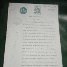 Documentos antiguos: DOCUMENTO PODER NOTARIA JUAN CAMPASSOL Y CALVELL, MASNOU 1927. Lote 53384754