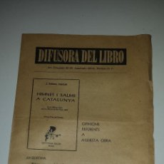 Documentos antiguos: DIFUSORA DEL LIBRO (HIMNES I SALMS A CATALUNYA). Lote 53392823