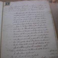 Documentos antiguos: DOCUMENTO MANUSCRITO, LLEVA SELLO TIMBRE O FISCAL, MADRID, 1862. Lote 53479145