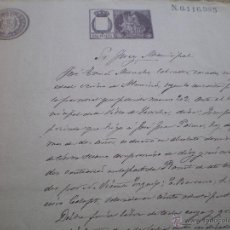 Documentos antiguos: DOCUMENTO MANUSCRITO JUDICIAL, CONCENTAINA, 1901, ALICANTE, LLEVA SELLO TIMBRE O FISCAL . Lote 53479280