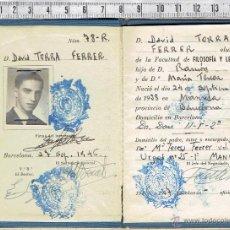 Documentos antiguos: CARNET DE IDENTIDAD ESCOLAR-UNIVERSIDAD DE BARCELONA-1946-49.. Lote 53494633