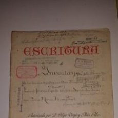 Documentos antiguos: ESCRITURA COMPRA VENTA 1906. Lote 53576579