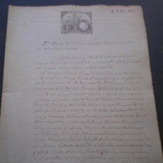 Documentos antiguos: DOCUMENTO PARROQUIAL, LLEVA SELLO TIMBRE O FISCAL, CANFRANC, HUESCA, 1886. Lote 53583456