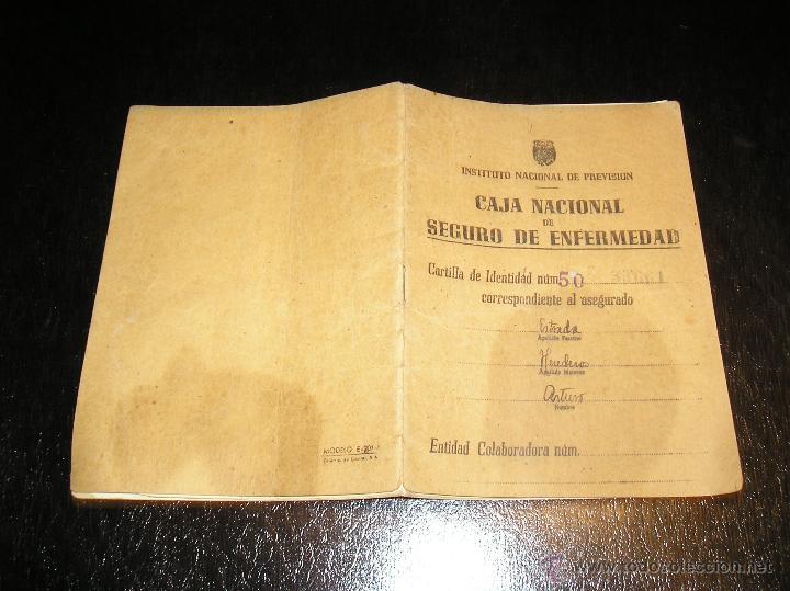 CARTILLA DE IDENTIDAD DEL INSTITUTO NACIONAL DE PREVISION CAJA NACIONAL DEL SEGURO DE ENFERMEDAD (Coleccionismo - Documentos - Otros documentos)