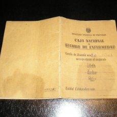 Documentos antiguos: CARTILLA DE IDENTIDAD DEL INSTITUTO NACIONAL DE PREVISION CAJA NACIONAL DEL SEGURO DE ENFERMEDAD. Lote 53624339