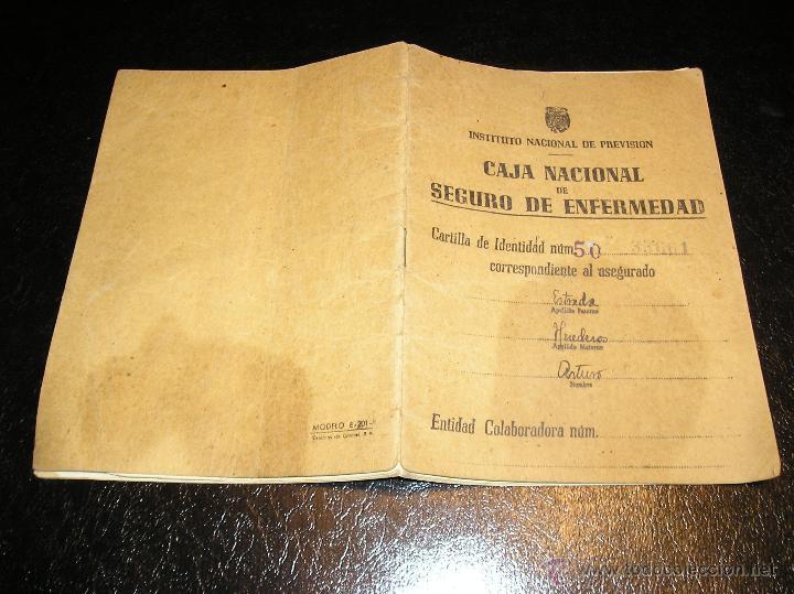 Documentos antiguos: CARTILLA DE IDENTIDAD DEL INSTITUTO NACIONAL DE PREVISION CAJA NACIONAL DEL SEGURO DE ENFERMEDAD - Foto 2 - 53624339