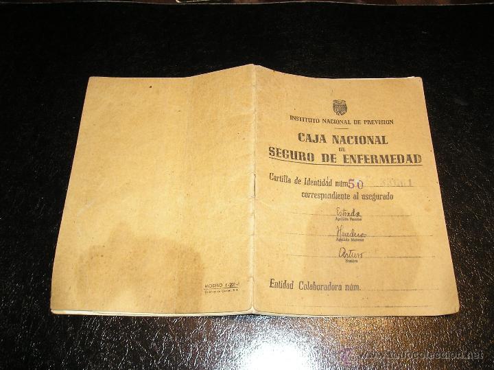 Documentos antiguos: CARTILLA DE IDENTIDAD DEL INSTITUTO NACIONAL DE PREVISION CAJA NACIONAL DEL SEGURO DE ENFERMEDAD - Foto 3 - 53624339