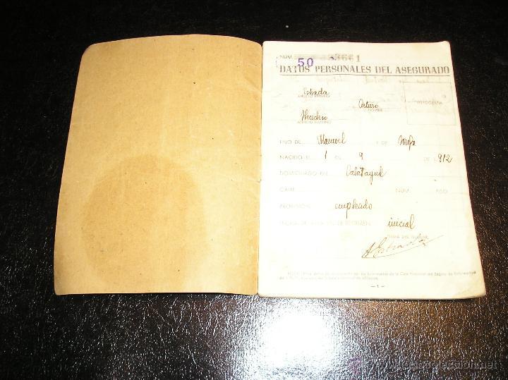 Documentos antiguos: CARTILLA DE IDENTIDAD DEL INSTITUTO NACIONAL DE PREVISION CAJA NACIONAL DEL SEGURO DE ENFERMEDAD - Foto 5 - 53624339