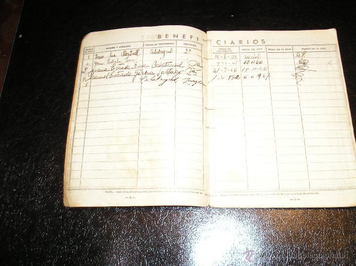 Documentos antiguos: CARTILLA DE IDENTIDAD DEL INSTITUTO NACIONAL DE PREVISION CAJA NACIONAL DEL SEGURO DE ENFERMEDAD - Foto 6 - 53624339