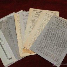 Documentos antiguos: LOTE DE HOJITAS PARROQUIA DE LA PURISIMA CONCEPCION YECLA 1948 A 1952. Lote 53638347