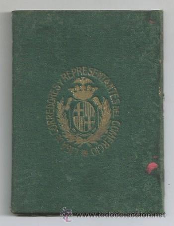 Documentos antiguos: BARCELONA CARNET Y ESTATUTOS 1914 LIGA CORREDORES REPRESENTANTES COMERCIO TITULO DE SOCIO CATALUNYA - Foto 4 - 53705349