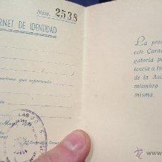 Documentos antiguos: VI ASAMBLEA NACIONAL DE HERMANDADES SINDICALES DE LABRADORES Y GANADEROS, 1957, CARNET, SELLADO!. Lote 53755561