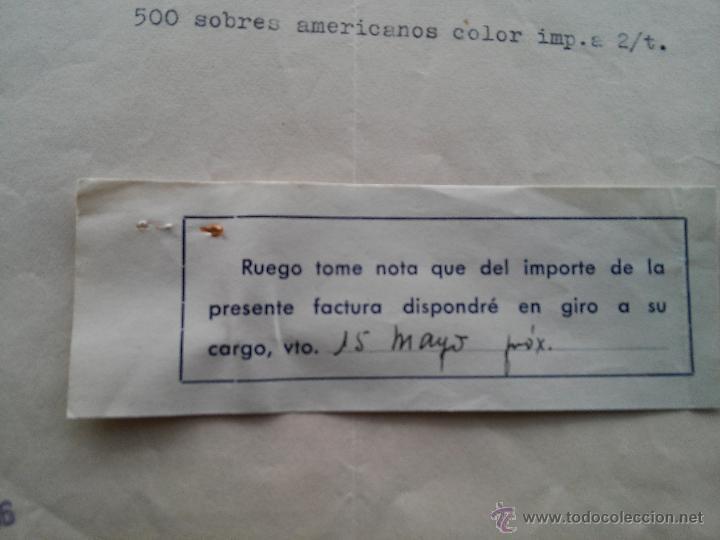 Documentos antiguos: TARRAGONA - 1956 - FACTURA SUC. R. GABRIEL GIBERT - MAYOR, 17 - REINTEGRO FECHA - Foto 2 - 53809276