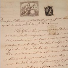 Documentos antiguos: 1879. NOVELDA, DOCUMENTO NOTARIAL, ACTA, CUÑADO.. Lote 53834193