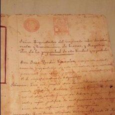 Documentos antiguos: 1900-1910'S, DOCUMENTOS NOTARIALES, 50 PAGINAS, MONOVAR, ALICANTE, CON TIMBRE DEL ESTADO. Lote 53845539