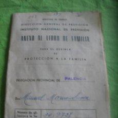 Documentos antiguos: ANEXO AL LIBRO DE FAMILIA DE UN MINERO.BARRUELO(PALENCIA)AÑO 1967.. Lote 53953404