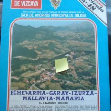 Documentos antiguos: FASCICULO ECHEVARRIA GARAY IZURZA MALLABIA MAÑARIA DURANGO DURANGUESADO VIZCAYA EUSKADI. Lote 54022009