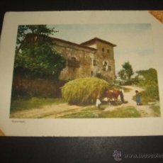 Documentos antiguos: MUSQUIZ VIZCAYA MUÑATONES ESCENA RURAL TARJETA LITOGRAFICA. Lote 54027564