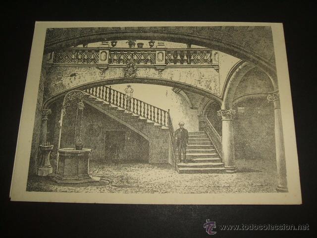PALMA DE MALLORCA PATIO TARJETA LITOGRAFICA (Coleccionismo - Documentos - Otros documentos)