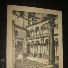 Documentos antiguos: PALMA DE MALLORCA CLAUSTRO DE LA CATEDRAL TARJETA LITOGRAFICA. Lote 54027587