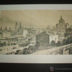 Documentos antiguos: ZARAGOZA VISTA DESDE LA MISERICORDIA TARJETA LITOGRAFICA. Lote 54027601