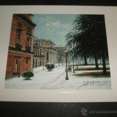 Documentos antiguos: MADRID MUSEO DEL PRADO POR LOPEZ BERRON TARJETA FELICITACION NAVIDAD. Lote 54050383