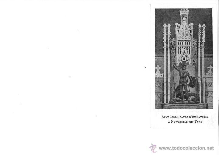 RECORTE DE REVISTA SANT JORDI PATRON DE INGLATERRA NEWCASTLE-ON-TYNE LA IL.LUSTRACIO CATALANA 1907 (Coleccionismo - Documentos - Otros documentos)