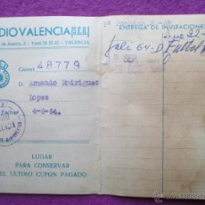 Documentos antiguos: CARNET RADIO VALENCIA, SER, UNION DE RADIOYENTES, 1964, VER FOTOS ADICIONALES, C1. Lote 54103775