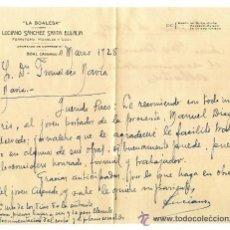 Documentos antiguos: ANTIGUA CARTA DE RECOMENDACIÓN DEL CARTERO A LA BOALESA BOAL ASTURIAS 1928. CORREOS. Lote 54162472