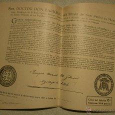 Old Documents - DOCUMENTO DE INDULTO DE LA LEY DE AYUNO Y ABSTINENCIA DE 1965 - 54293267