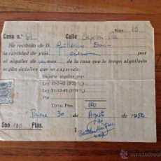 Alte Dokumente - Recibo alquiler mallorquin de 1952 - 54307426