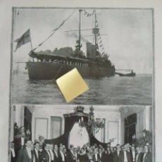 Documentos antiguos: BUQUE ESCUELA GUARDIA MARINO DRISTICHETEN BARCO ARMADA SUECIA MAR CANTABRICO MARINERO. Lote 54349425