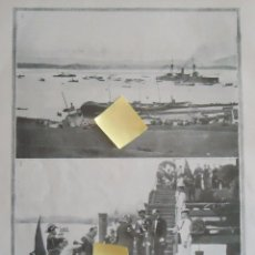 Documentos antiguos: BAHIA ASTILLERO SANTANDER CANTABRIA ACORAZADO ESPAÑA BUQUE ARMADA MILITAR GUERRA MAR CANTABRICO. Lote 54355221