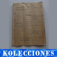 Documentos antiguos: 1965, ESCRITURA DE DIVISIÓN DE BIENES DE HERENCIA CON 10 PÁGINAS, CUBIERTAS Y OTROS DOCUMENTOS. Lote 54367368
