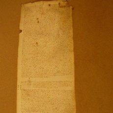 Documenti antichi: GRAN PERGAMINO ESCRITURA NOTARIAL DE GIRONA AÑO 1550. Lote 54367848