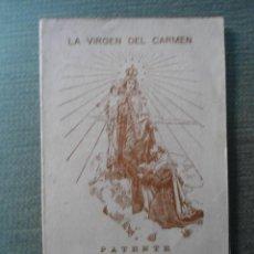 Documentos antiguos: ANTIGUO DOCUMENTO LA VIRGEN DEL CARMEN - CISTIERNA - LEON - 1942. Lote 54398441