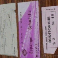 Documentos antiguos: TARRAGONA - 3 DOCUMENTOS - 1951 - LA SABINOSA - ENTRADA NASTIC Y ENTRADA EMISORA RADIO TARRAGONA. Lote 54515645