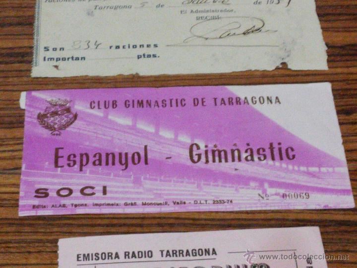 Documentos antiguos: TARRAGONA - 3 DOCUMENTOS - 1951 - LA SABINOSA - ENTRADA NASTIC Y ENTRADA EMISORA RADIO TARRAGONA - Foto 3 - 54515645