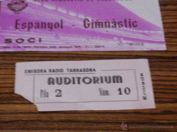 Documentos antiguos: TARRAGONA - 3 DOCUMENTOS - 1951 - LA SABINOSA - ENTRADA NASTIC Y ENTRADA EMISORA RADIO TARRAGONA - Foto 4 - 54515645
