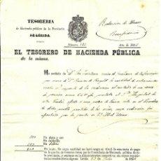Documentos antiguos: GRAÑENA DE LAS GARRIGAS (LÉRIDA) REDENCIÓN DE CENSOS BENEFICENCIA - AÑO 1856. Lote 54719110