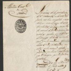 Documentos antiguos: DOCUMENTO ALCALDIA CONSTITUCIONAL DE CORNELLA - AÑO 1849 - MED 15 X 21 CM- VER REVERSO- (V-4563). Lote 54742200