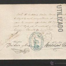 Documentos antiguos: DOCUMENTO AYUNTAMIENTO POPULAR DE CORNELLA - AÑO 1873 - MED 11 X 15 CM- VER REVERSO- (V-4564). Lote 54742269