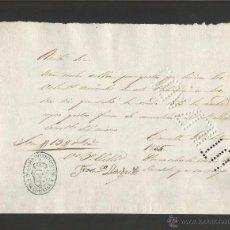 Documentos antiguos: DOCUMENTO ALCALDIA CONSTITUCIONAL DE CORNELLA - AÑO 1855 - MED 15 X 21 CM- VER REVERSO- (V-4566). Lote 54742329